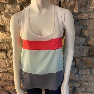 Ambience Apparel Color Blocked Tank Top Size S